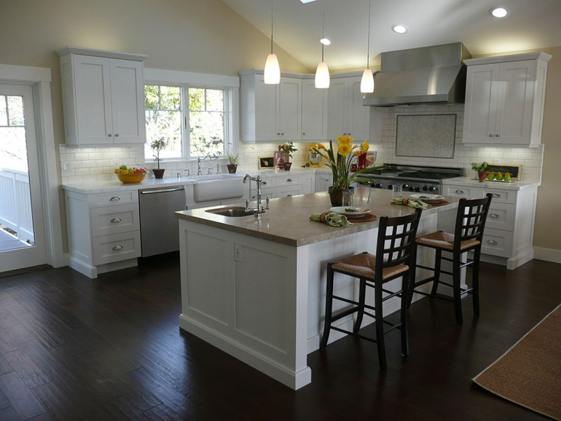 Picture Of White Kitchen Cabinets With Dark Floors Modern Kitchen Interiors Kitchen Redesign White Modern Kitchen