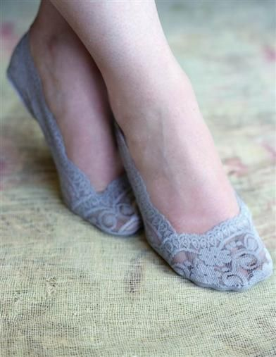 Lace Footsies  Soft No Show Shoe Liners Invisible Socks