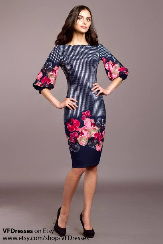 4dc99a1168cf casual navy dress, puff sleeve dress, Bodycon dress, sheath dress, elegant  work dress, pencil dress,