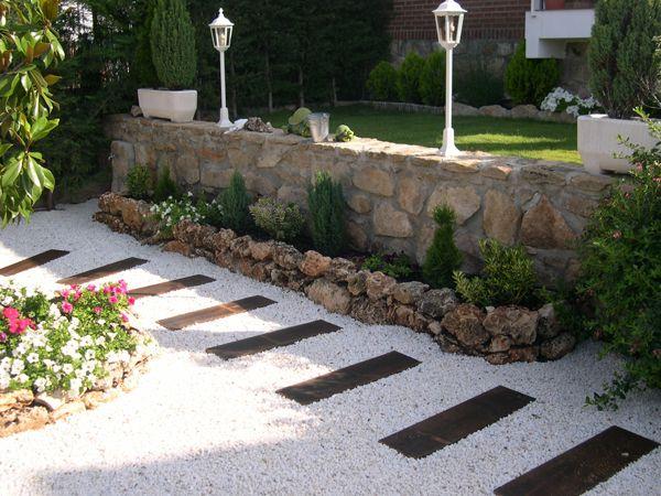 camino de piedras para jardin Buscar con Google ENTRADA PIEDRAS