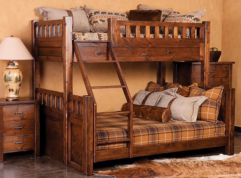 Twin Over Full Or Queen Bunk Bed Arrangement