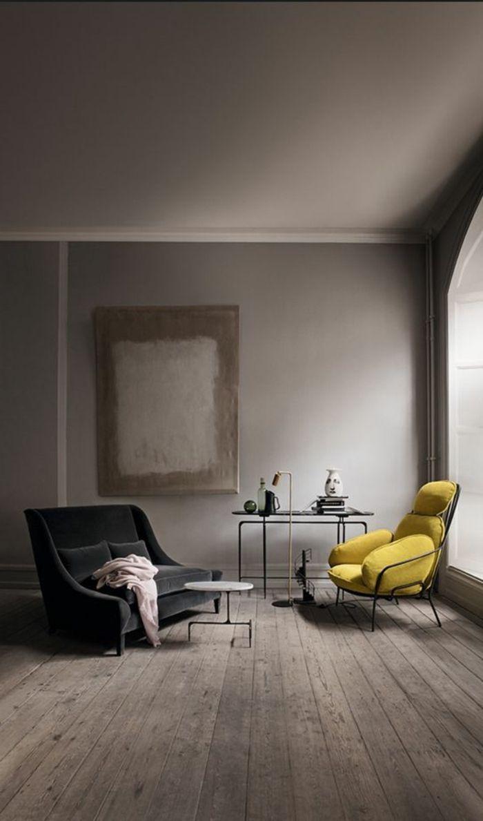 ▷ 1001 variantes de salon gris et jaune pour vous inspirer  l