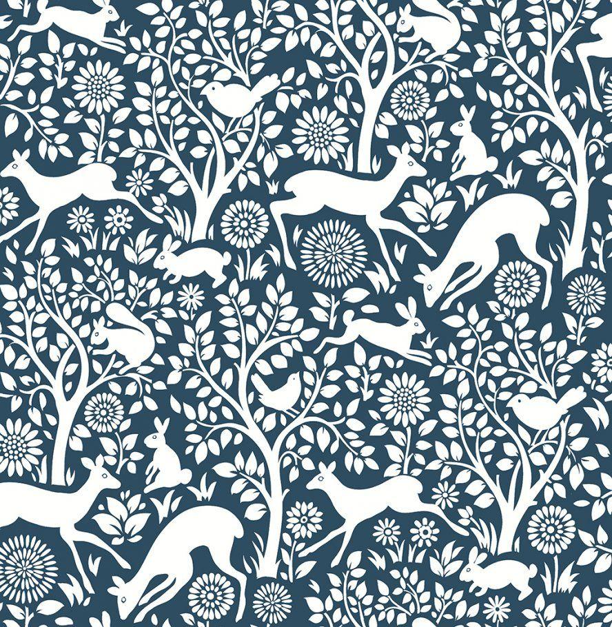 A Street Prints Woodland Meadow Woodland Animals Wallpaper 2702 22730 Wallpaper Animal Wallpaper Brewster Wallpaper Wallpaper Warehouse