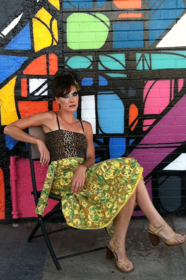 Handmade Wrap Skirt From Vintage Fabric And Strapless Top By Sticker