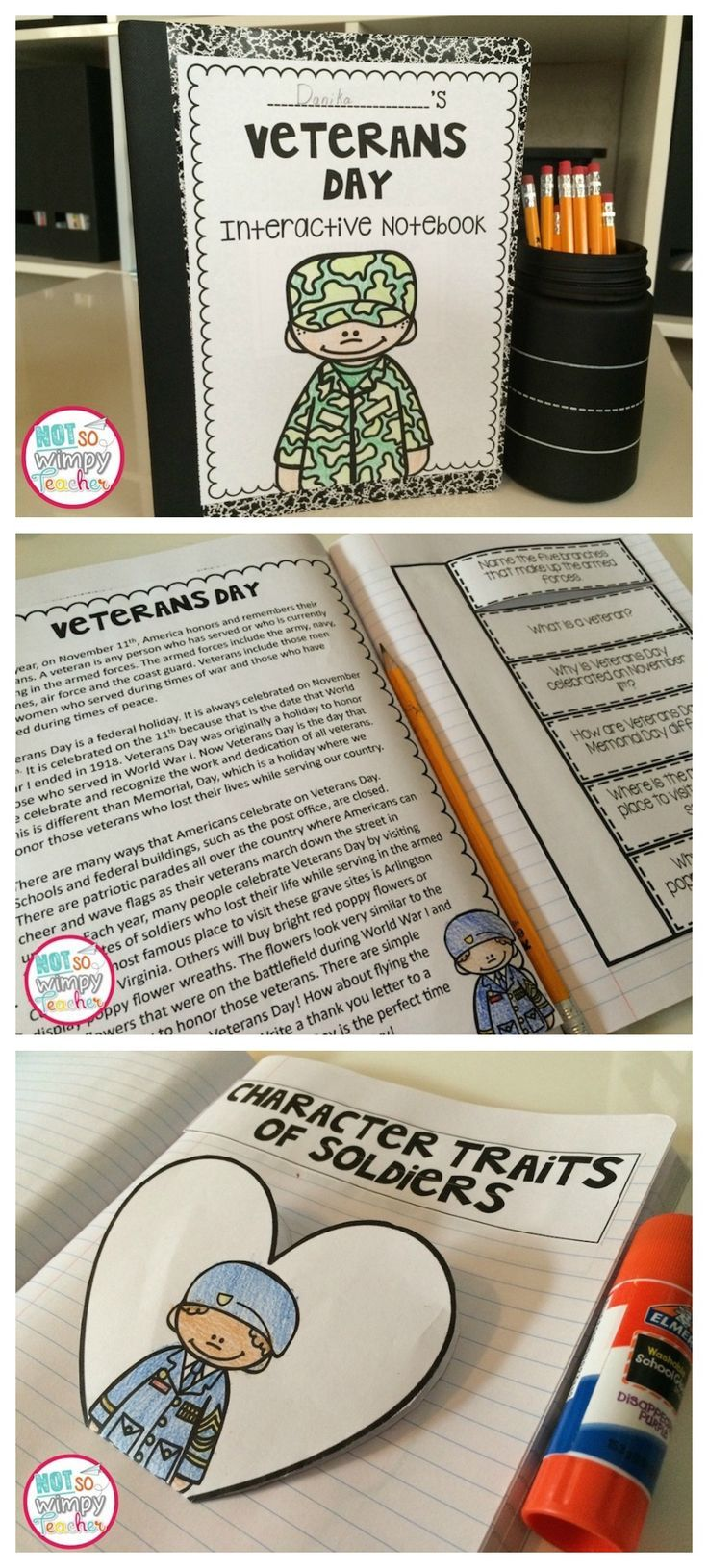 Veterans Day Interactive Notebook | TpT Language Arts Lessons ...