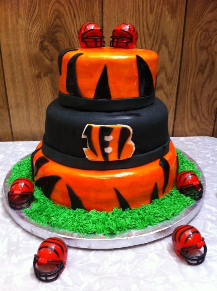 Pleasing Cincinnati Bengals Cake Cakes By Angela Neidich Crazy Cakes Personalised Birthday Cards Paralily Jamesorg
