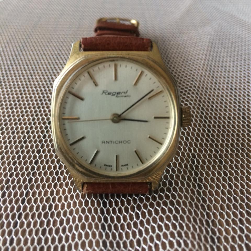 Tam Bir Antika Saat Efsane Regent Markasinin Bu Ozel Saati Tamami Isvicre El Yapimi Ve Kurmali Calisma Prensibine S Gold Watch Omega Watch Accessories