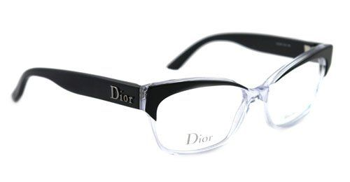 871e045f23b Amazon.com  Christian Dior 3197 Eyeglasses 0K4X BLACK CRYSTAL BLACK   Clothing