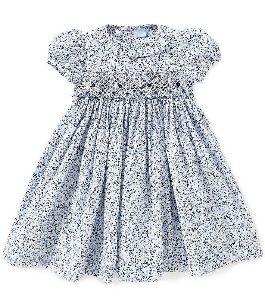 b6960d8c9d86 Edgehill Collection Baby Girls 3-24 Months Floral Smocked Dress ...