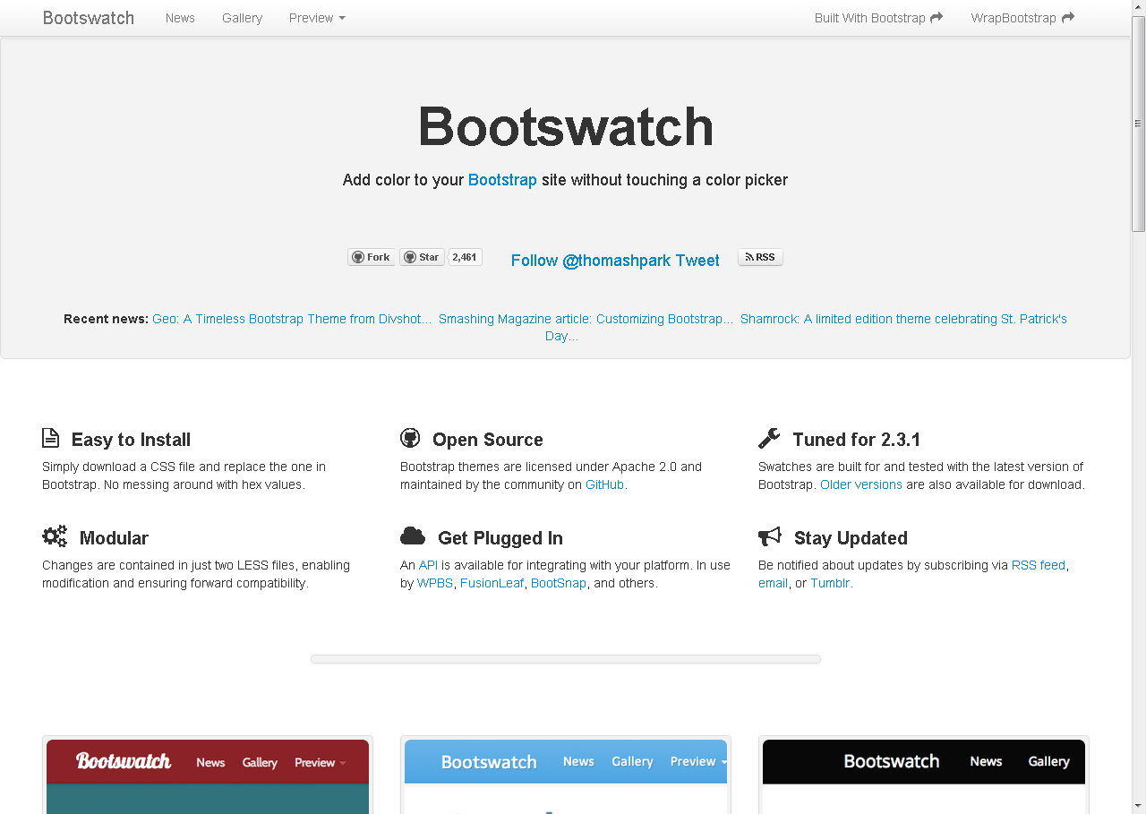 Bootswatch: Free themes for Twitter Bootstrap | Dev - Frameworks ...