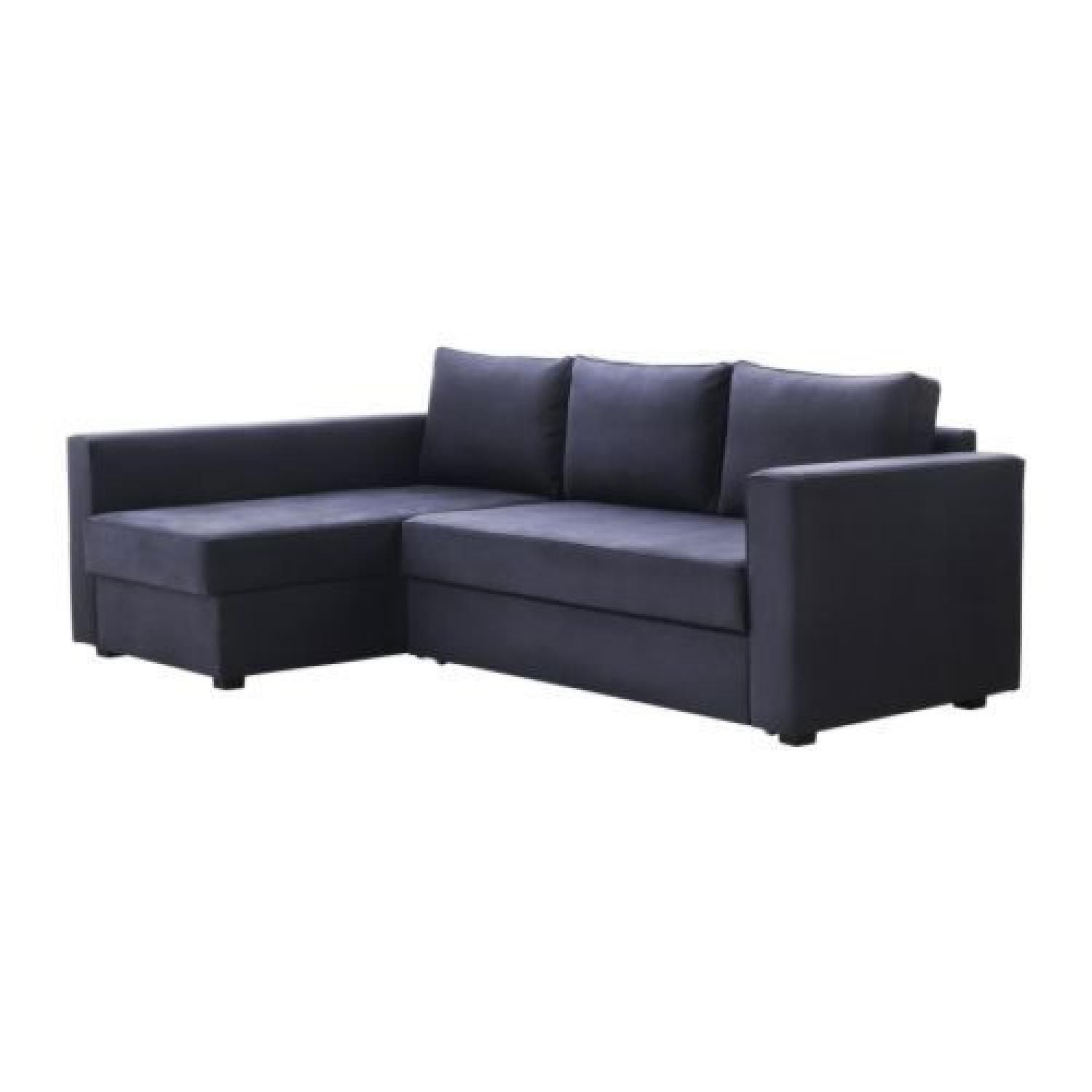 corner sofa bed new york repair miami ikea manstad corne sleeper sectional in blue gray satisfactory condition available for sale ny 10128