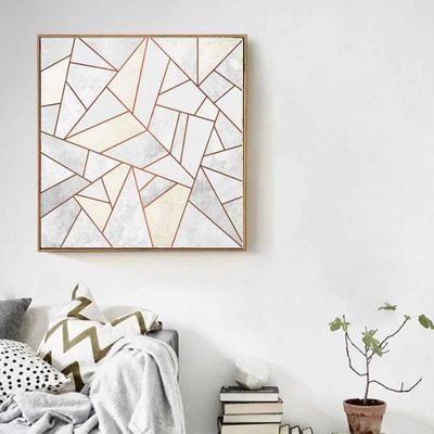 1Pcs Peinture abstraite or 2#- Affiche de peinture canevas salle à