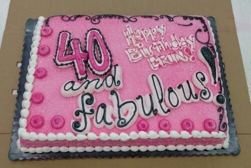 1/2 sheet cake FABULOUS 40th Birthday | C is for (my) Cake