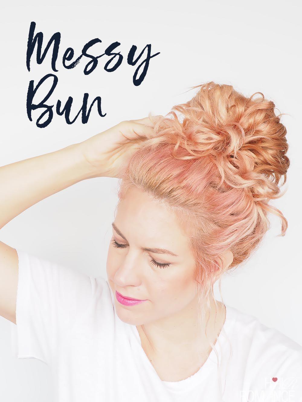 My Easy Messy Bun Tutorial Hair Romance In 2020 Messy Bun Curly Hair Messy Bun Tutorial Hair Romance