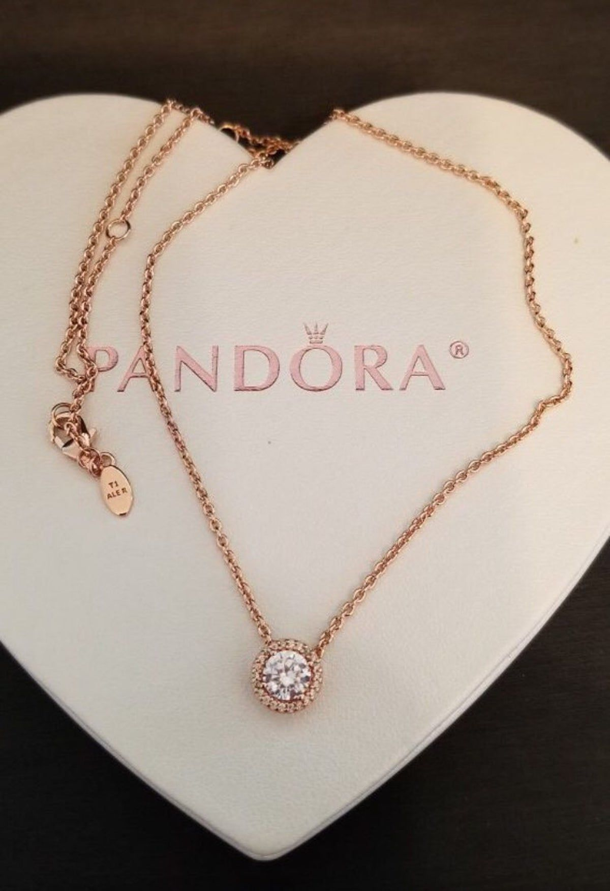 Pandora Rose Gold Tone Elegance Necklace Pandora Rose Gold Pandora Rose Pandora Necklace