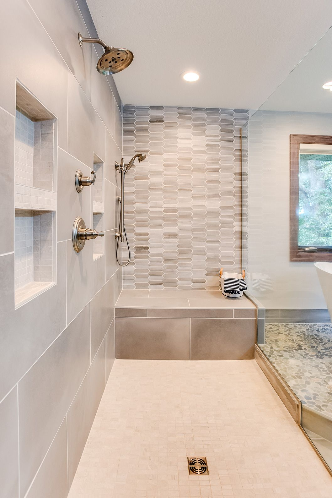 The Bathroom Is A Makeover Bathroom Remodel Master Modern