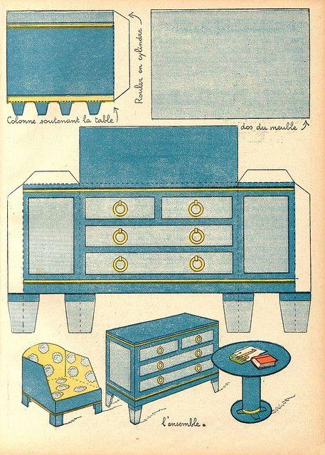 Salon Moderne 2 Paper Dolls Vintage