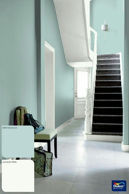 Mint macaroon and white | Hallway ideas | Interior wall ...