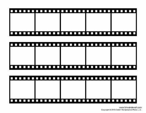 Blank Film Strip Template For A Photo Collage Or Movie Poster Rolos De Filmes Tira De Filme Molduras Para Fotos Digitais