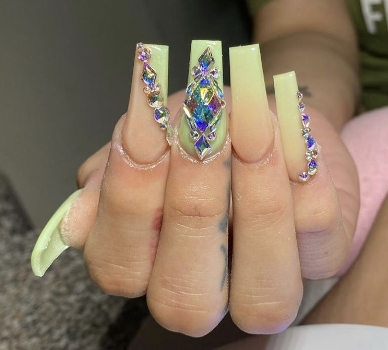 Pin by Alexandria Adkins on Glam! in 2020 Peach nails
