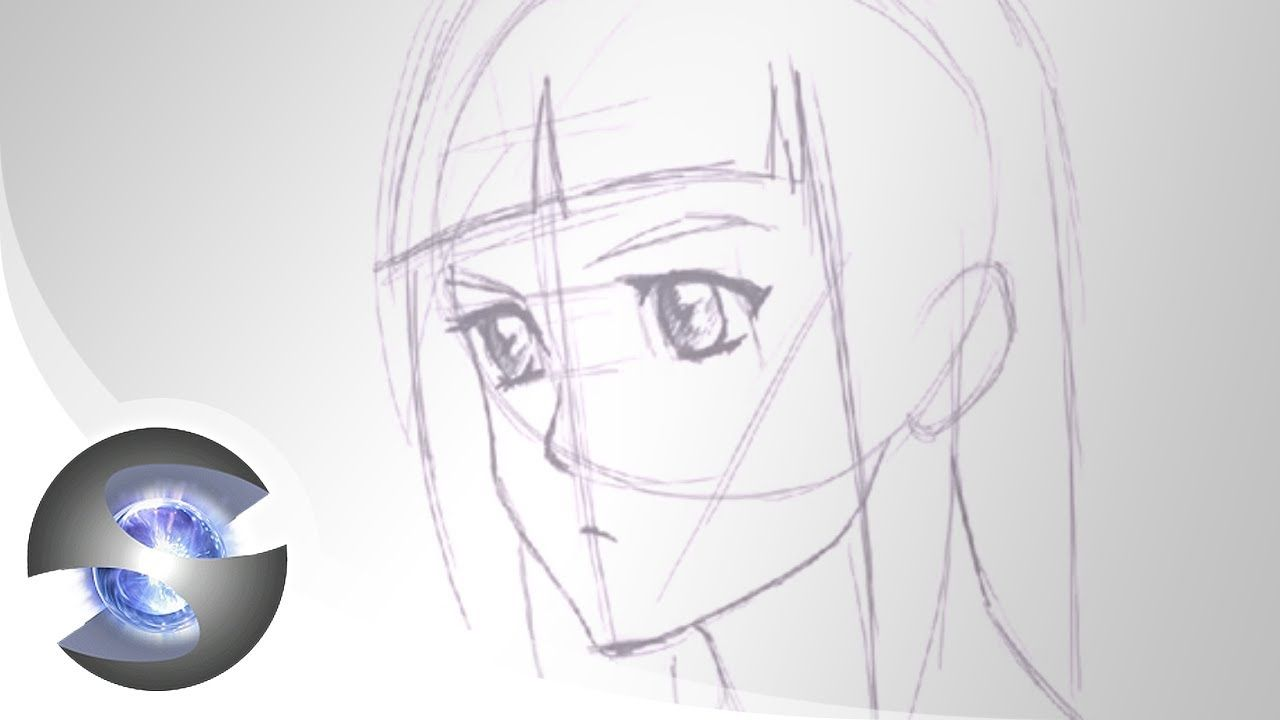 Drawing An Anime Face Side 3 4 View How To Draw Anime Eyes Drawings Anime Drawings