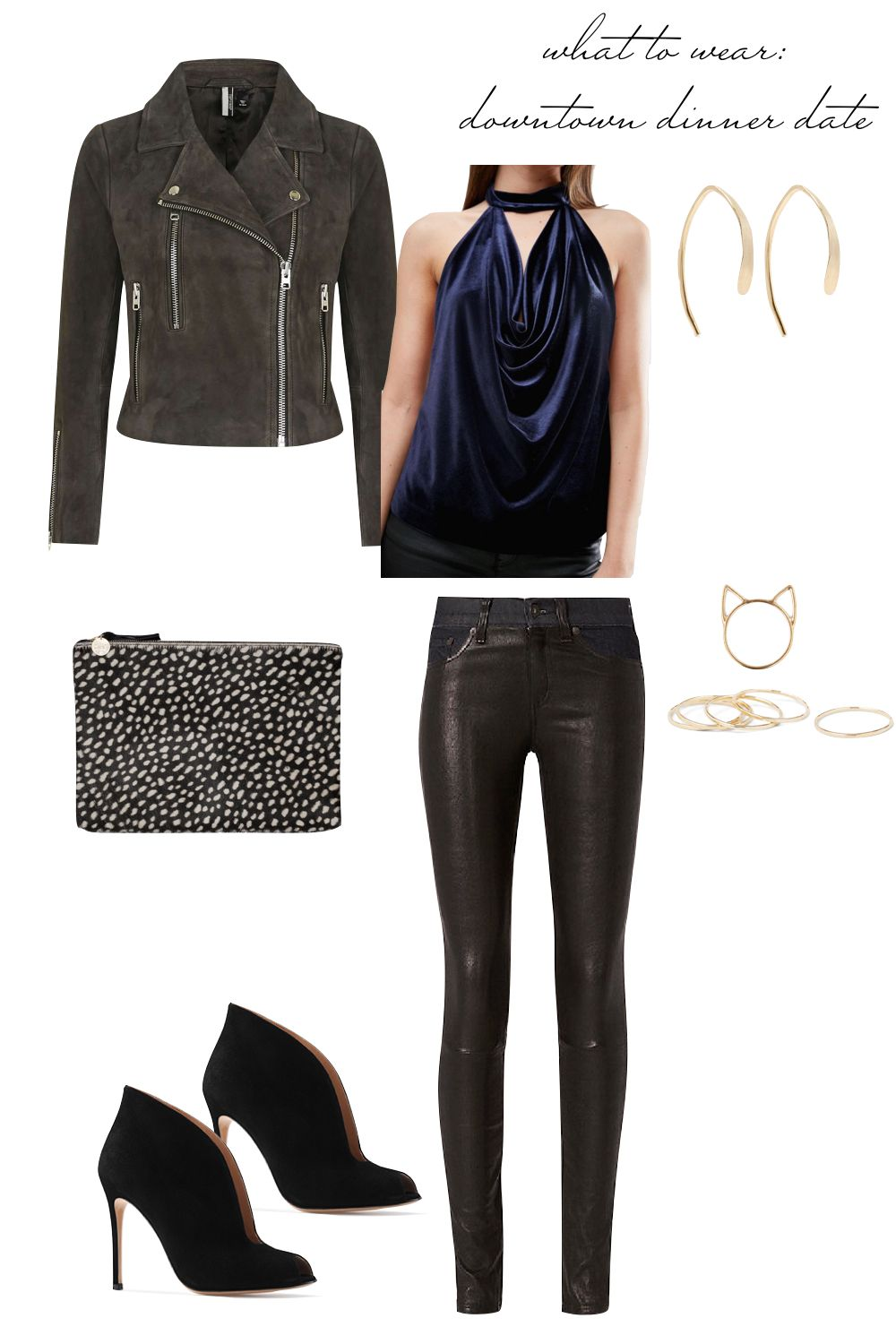 Date Night Outfit Ideas - What to Wear to a Downtown Dinner Date ...