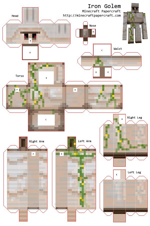 minecraft bastelvorlagen zum ausdrucken