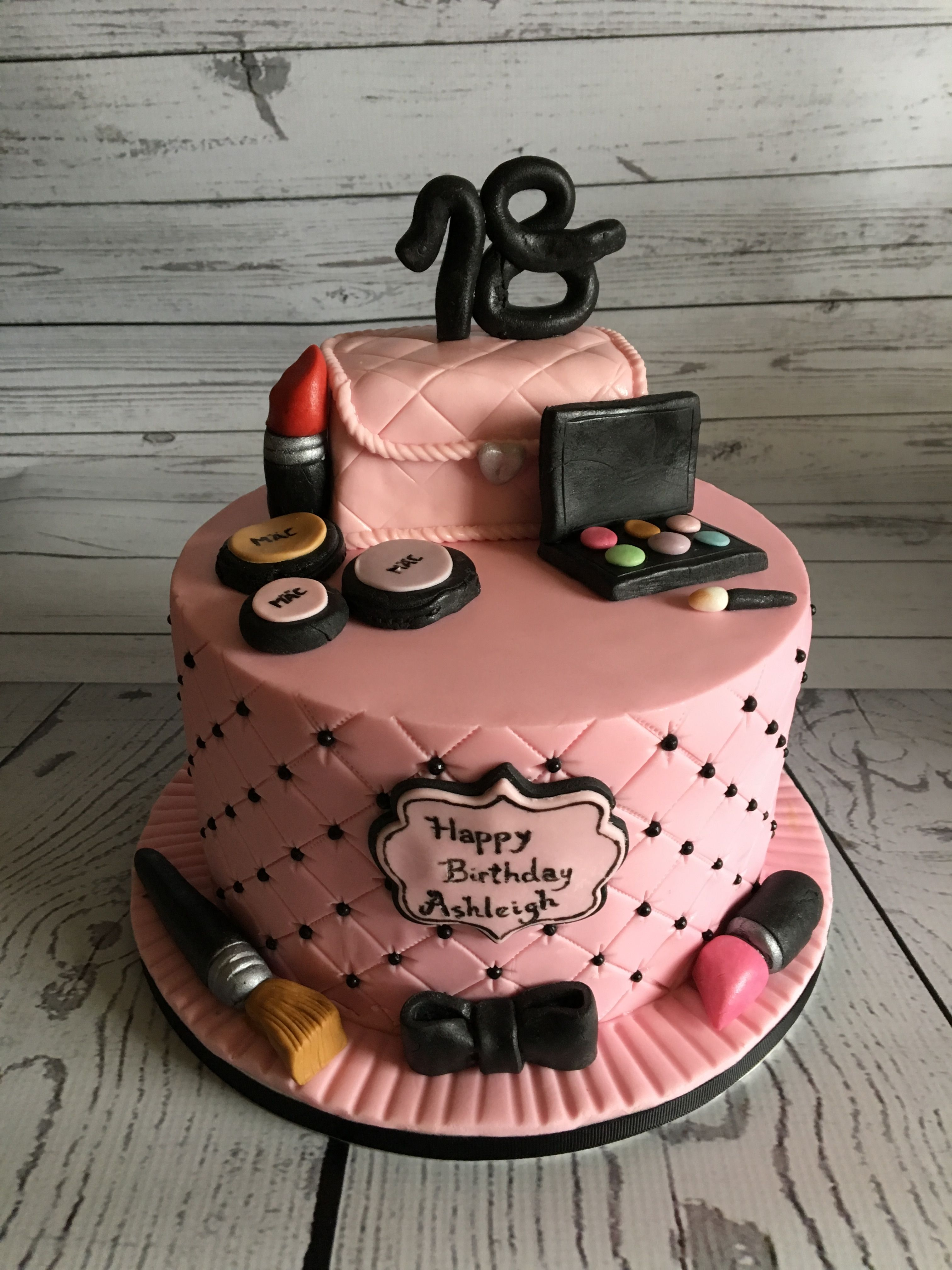 18th Birthday Mac Make Up Cake With Images Make Up Cake