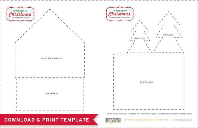 Ridiculous image within gingerbread house templates printable