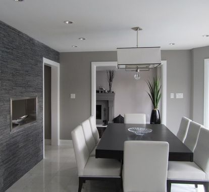 Grey Paint Colors For The Home Elegant Dining Room Dining Room Interiors Dining Room Contemporary