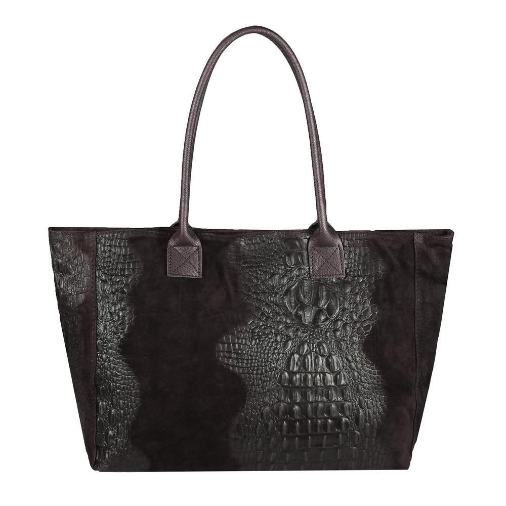 ITAL DAMEN LEDER HAND TASCHE Shopper Schultertasche Tote Bag