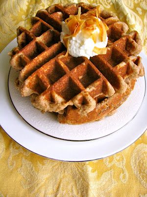 Toasted Coconut Almond Waffles