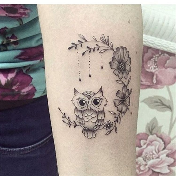 53 Cool Animal Tattoo Ideas Cute Owl Tattoo Baby Owl Tattoos Cute Animal Tattoos