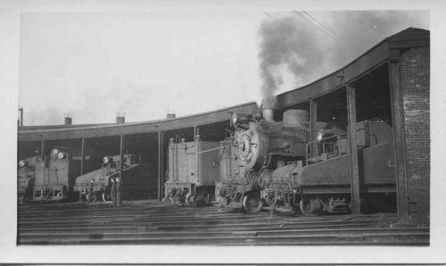 1940/50s LIRR Long Island Railroad train engine roundhouse