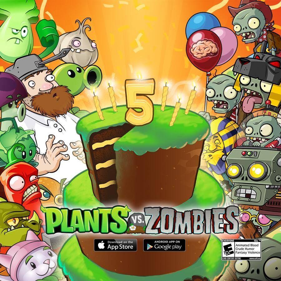 Resultado De Imagen Para Cumpleanos De Plantas Vs Zombies Con