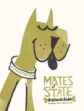 My Associate Cornelius : Posters : Mates of State — Designspiration