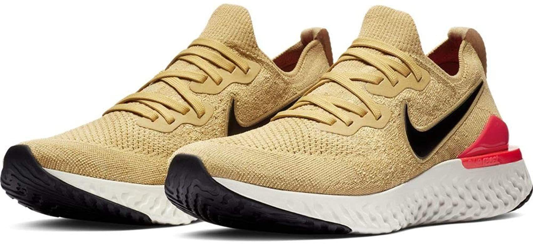 venganza menú frágil  Amazon.com: Nike Epic React Flyknit - Tenis de correr para mujer, Dorado:  Shoes | Mens trail running shoes, Running shoes for men, Running shoes nike