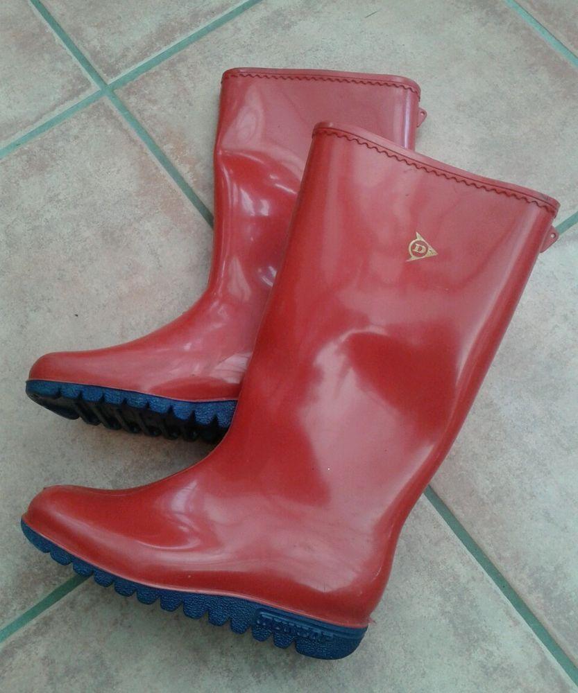 Womens Dunlop Red Wellingtons Wellies Boots Sz 3 Screwfix Pinterest See More Ideas About