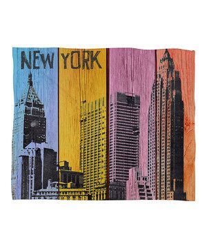 This New York Downtown Fleece Throw Blanket by DENY Designs is perfect! #zulilyfinds