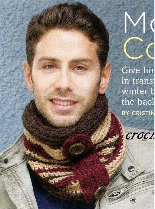 Crochet para Ti: Cuello en Crochet para Hombre | Bufandas ...