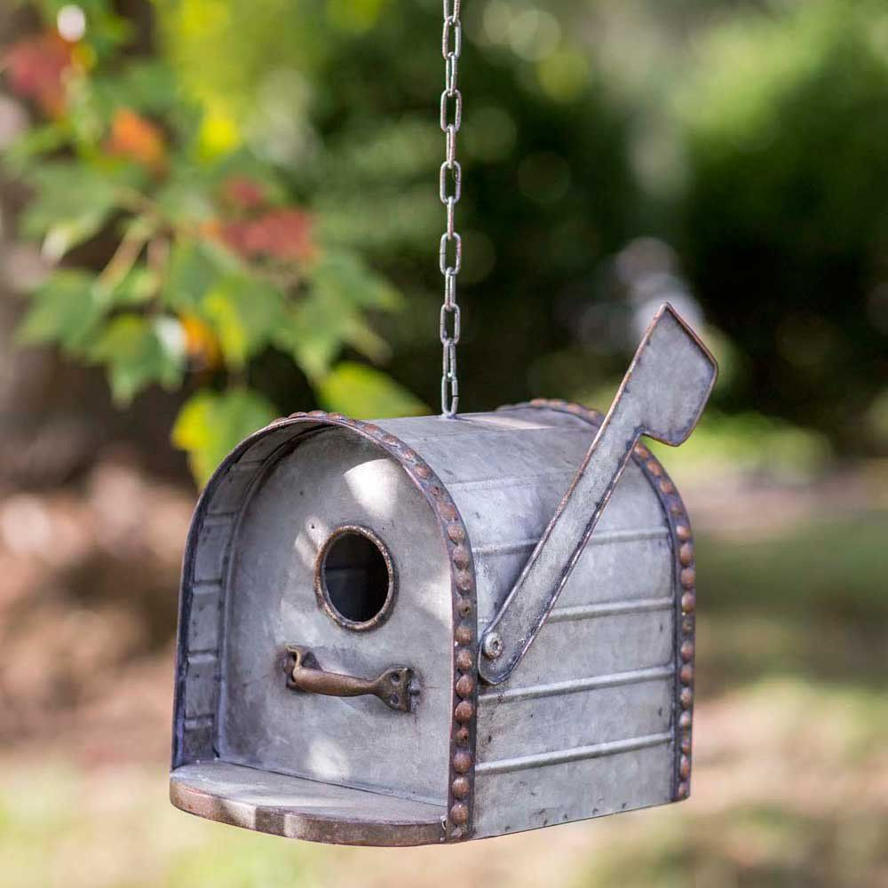Rustic Country Distressed Mailbox Metal Birdhouse – Thelma's Online
