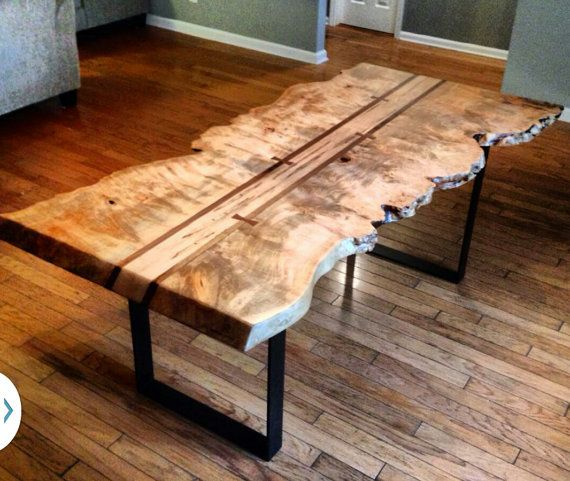 Maple Live Edge Dining Table By Kheatondesign On Etsy