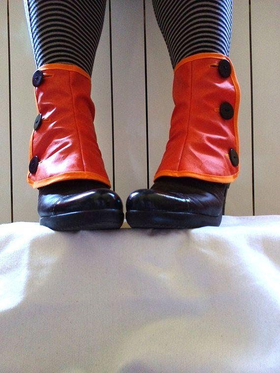 Doctor Who Low orange spats waterproof Tardis by PasiondeSastre