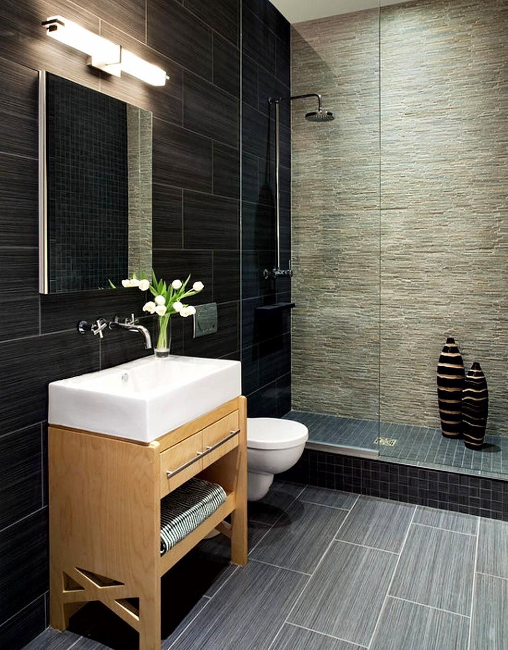 High Tech Style Has In General As A Main Feature The Artificial Industrial Or Mec Small Bathroom Remodel Bathroom Design Small Contemporary Bathroom Designs Bathroom renovation melbourne fl