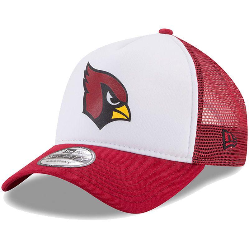 fd1d92213 Arizona Cardinals New Era Trucker Hit 9FORTY Adjustable Hat - White ...