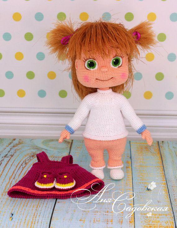 Masha - Amigurumi Crochet Doll Pattern PDF file by Anna Sadovskaya ...