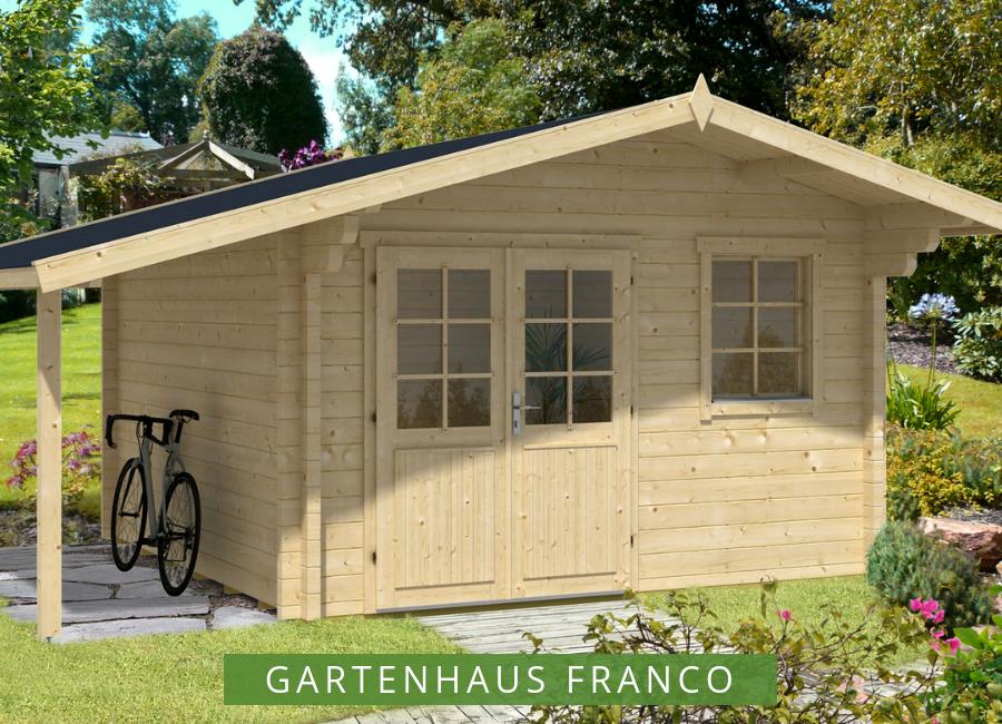 Gartenhaus Franco Premium Gartenhaus Gartenhaus Mit Schleppdach Flachdach Gartenhaus