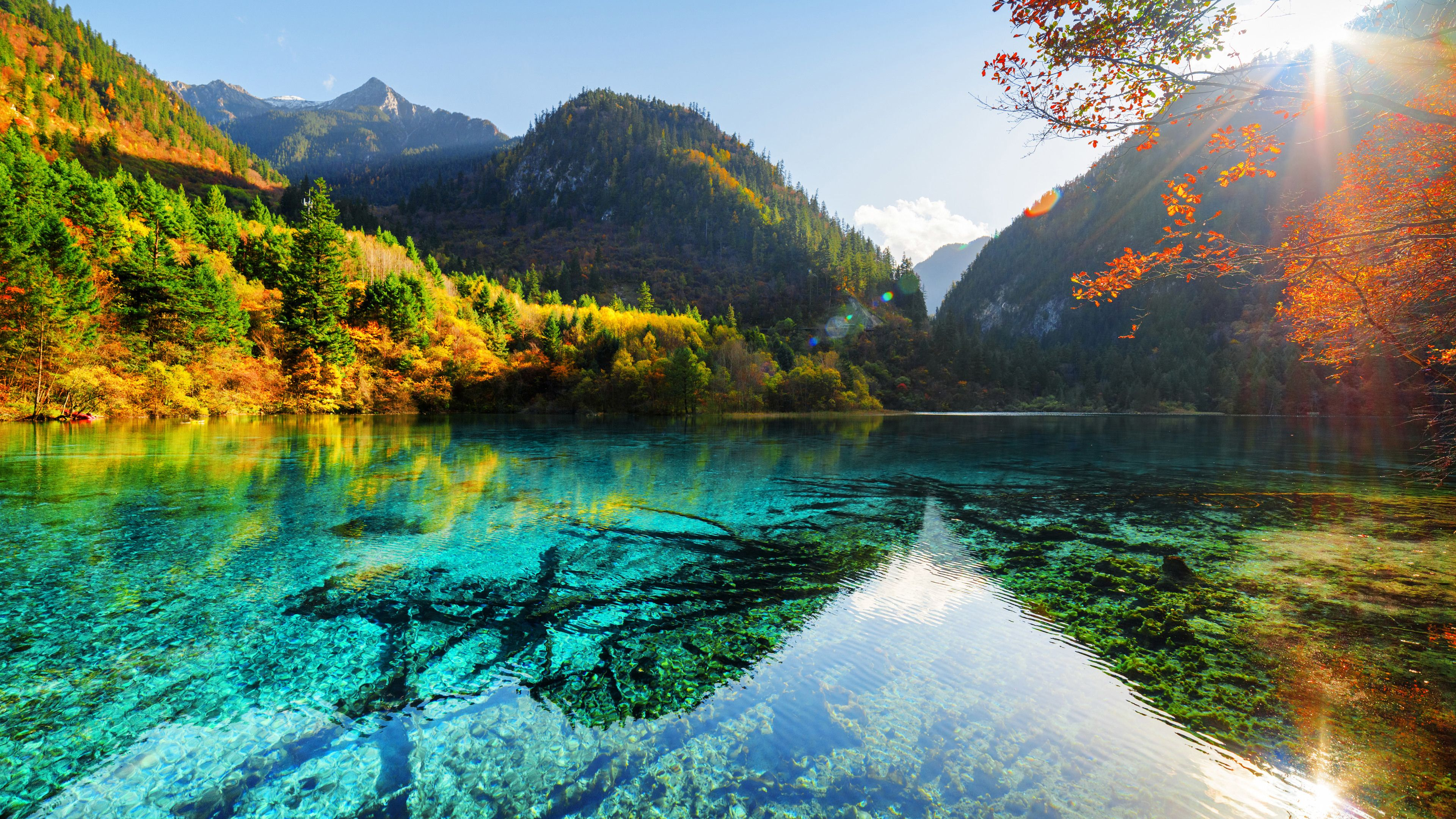 Lake Ultra Hd 4k Sunbeam Wallpapers Nature Wallpapers Lake Wallpapers Hd Wallpapers Fall Desktop Background Nature Nature Desktop Wallpaper Nature Pictures 4k wallpaper for pc nature