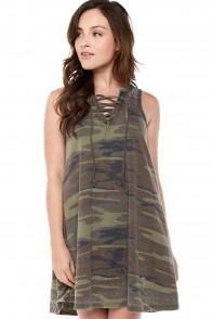 1498f172dfe3 Z Supply Camo Lace Up Dress | Zsupply | Dresses, Lace up, Tie up dress