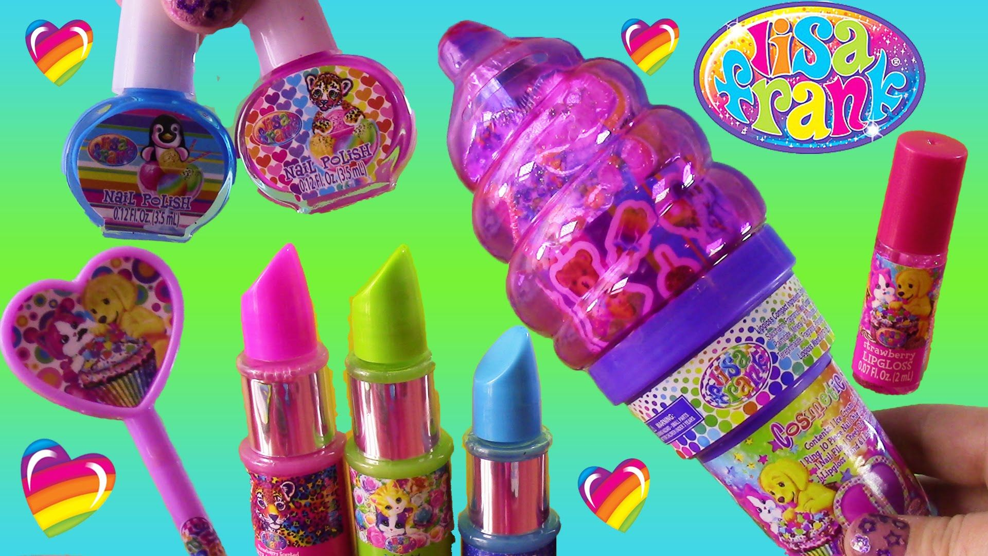 Lisa Frank Beauty Haul! Projector Lip Balm Lipstick  Surprise Ice Cream Cone